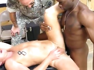 interracial Beamy lad delighted porn movietures xxx Drub band Sergeant knows what is mischievous gay