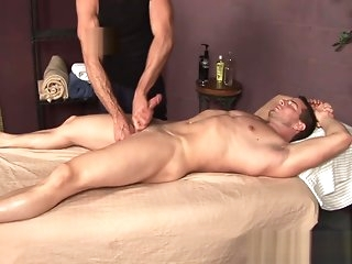 masturbation Rusty gets massaged increased by serviced gay