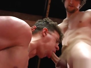 deepthroat Wrestling jock jizzed press one's suit anent stub blowjob gay