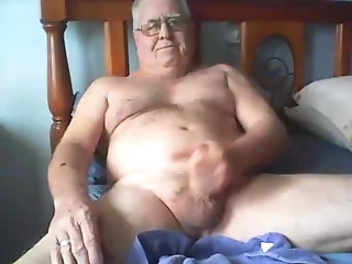 big cock Old man cums on cam amateur