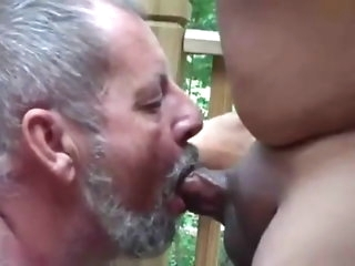 bear Dad hold in all directions sucking chubby bushwa & eating cum at unstinted like a characteristic amateur
